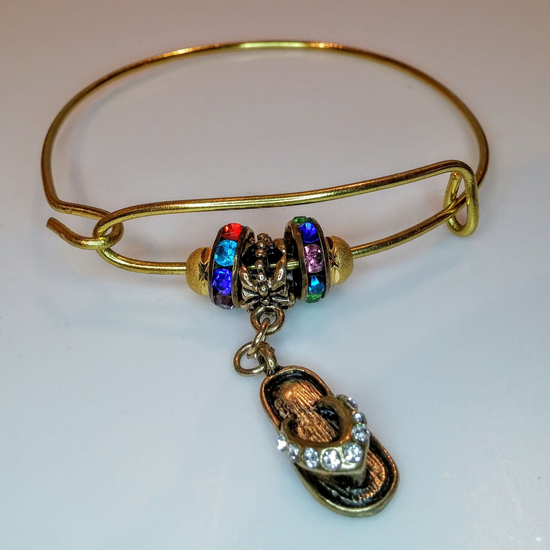 Bangle bracelet bangle charm bracelet gold bangle bracelet flip
