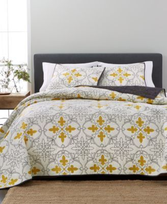Martha Stewart Collection Cotton Fleur De Lis Quilt Amp Sham