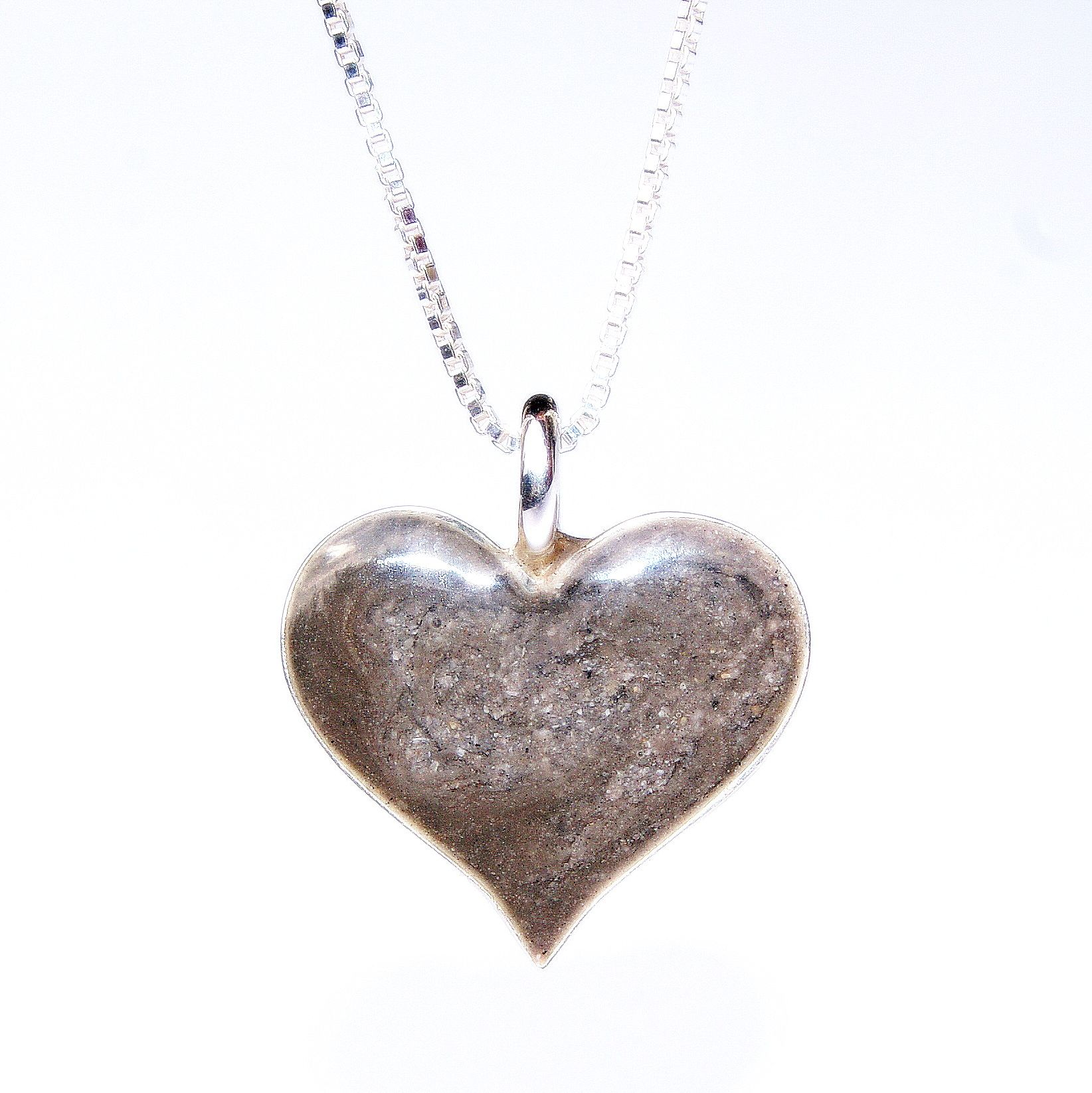 Cremation heart pendant. Sterling silver (.925) this