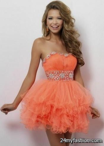 Awesome Coral Short Formal Dresses Review Fashion Ideas