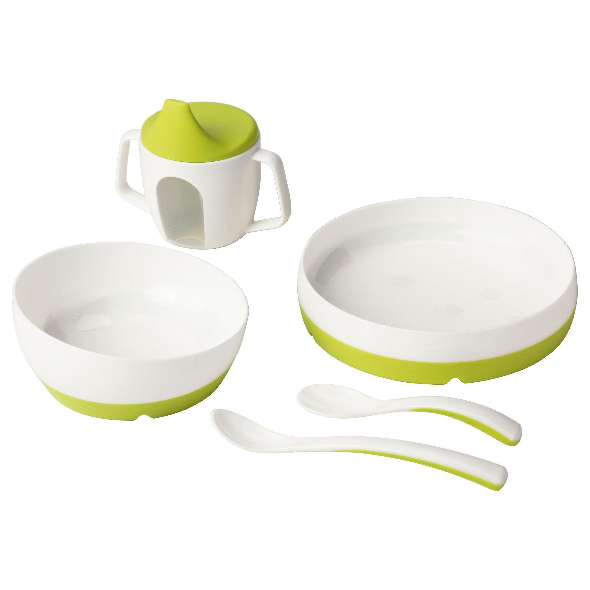 BORJA Feeding Spoon and Baby Spoon Plastic Cutlery Microwave Safe IKEA