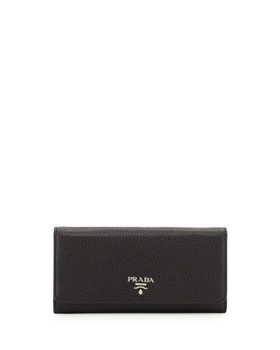 V2L2K Prada Vitello Phenix Continental Wallet, Black (Nero) Portefeuille  Continental, Portefeuilles Pour 7157c27edd65