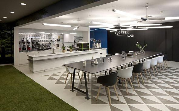 New google london office kitchen office design for Office kitchen design
