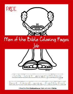 FREE Men of the Bible Coloring Page - Job   Bible coloring ...