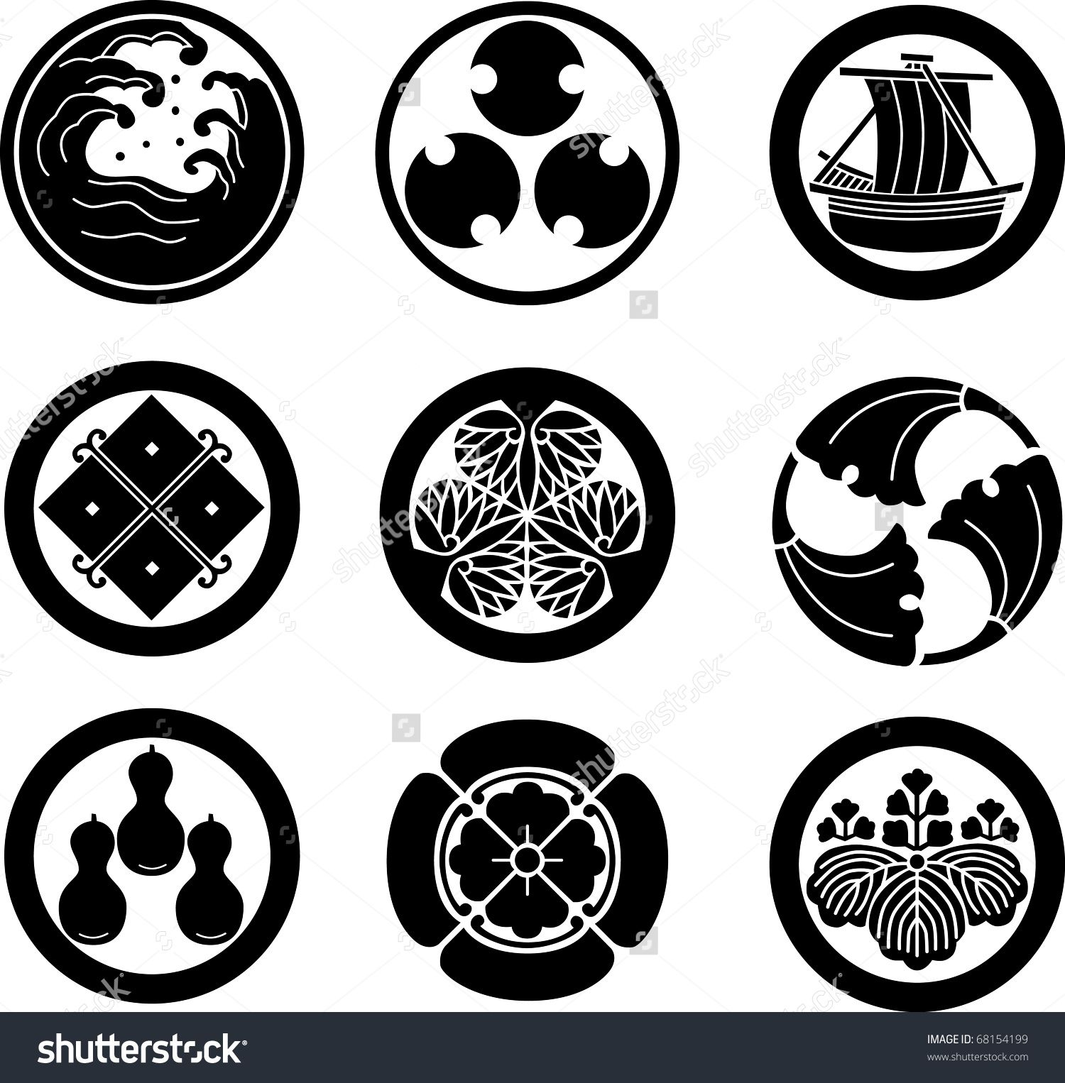 Stock vector japanese family crests vector 68154199g 15001526 stock vector japanese family crests vector 68154199g biocorpaavc Gallery