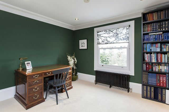 study dark green walls home room design study rooms on green office paint color id=49911