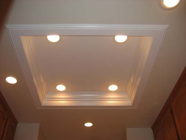 Ceiling Light Box Ideas : More kitchen ceiling lighting ideas crown molding with