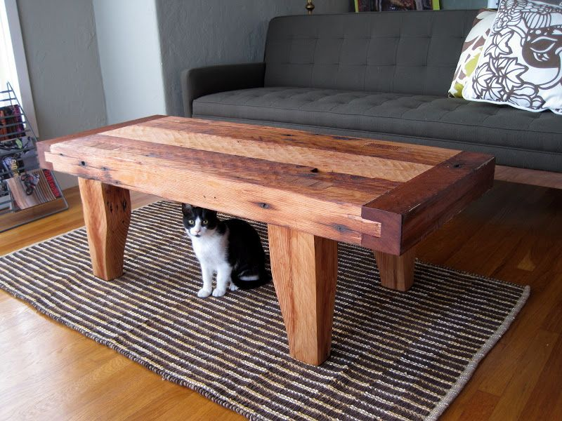 Table From Reclaimed Beams | The Top Is A Three Part Lamination Of Vertical  Grained Douglas