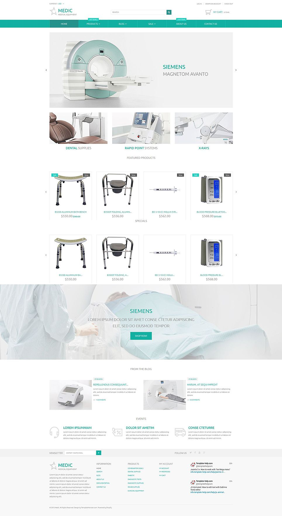 Medical Equipment Responsive Shopify Theme | Shopify Themes