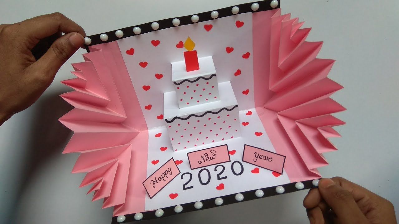 Happy New Year Card 2020 How To Make New Year Greeting Card