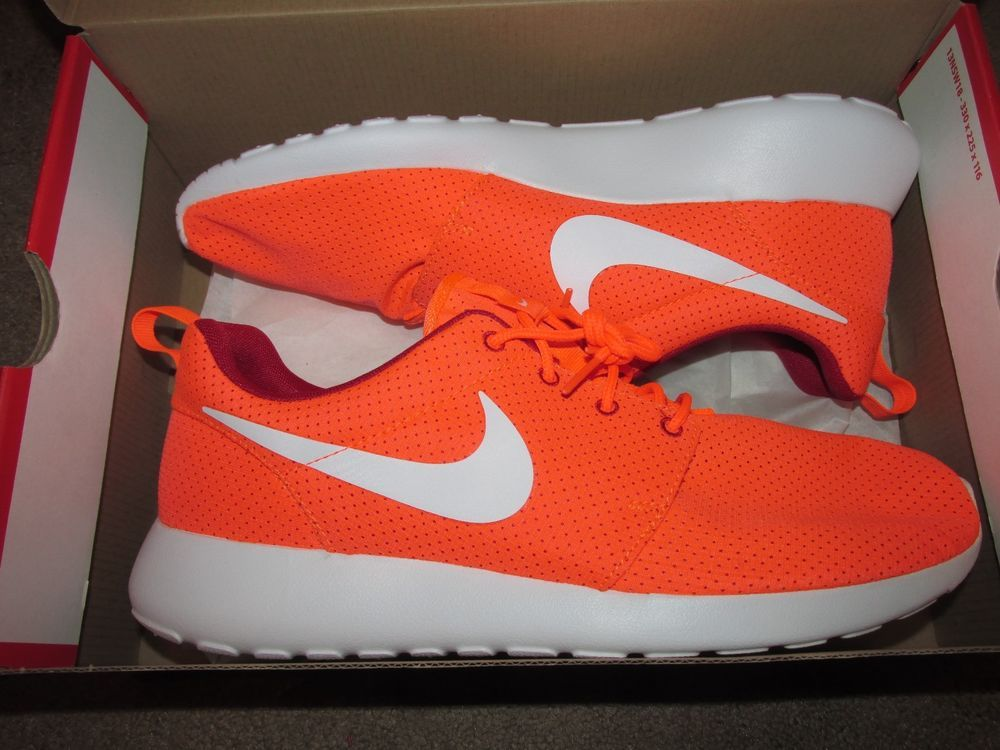 5c5623a90a3 Nike Roshe Run One Mens Shoes 10.5 Hyper Crimson White Red 511881 816  Nike