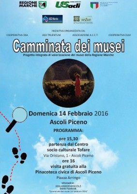 Camminata dei musei domenica 14 febbraio si visita la Pinacoteca di Ascoli