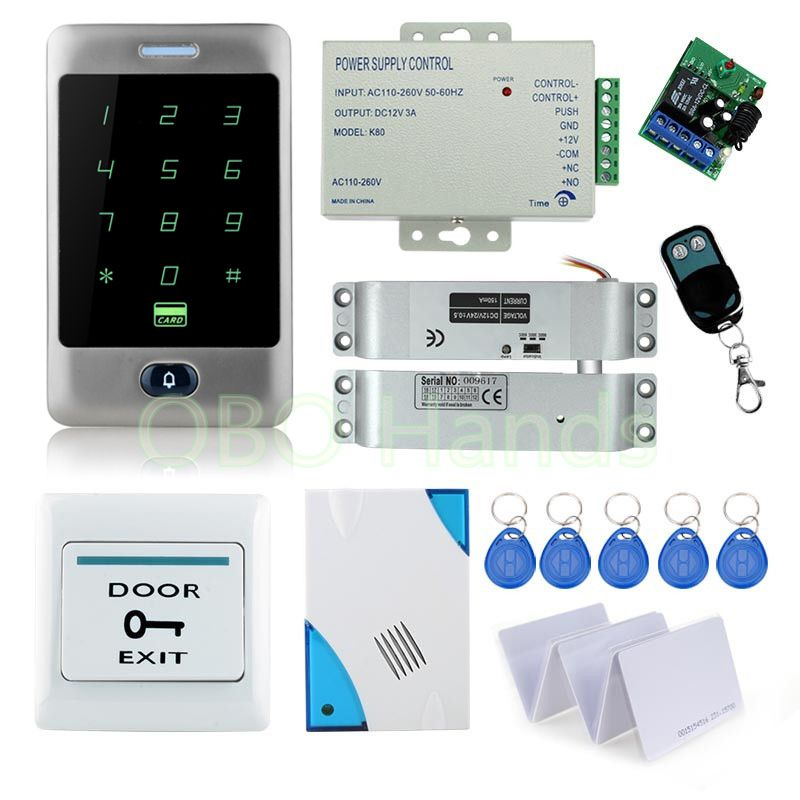 Remote Control Door Locks System With High Quality Metal Waterproof Touch Keypad 12v Power Supply Access Control Remote Control Door Lock Access Control System