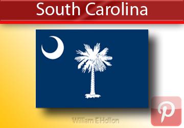 William E Hollon South Carolina State Flags North Carolina