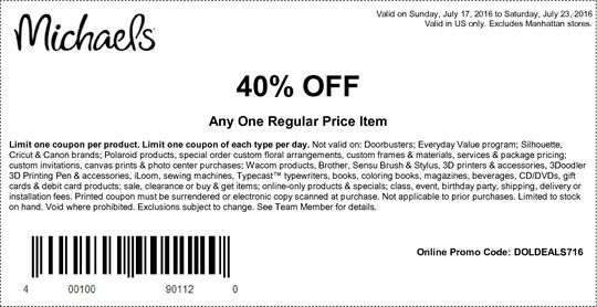 Frugal Crafter Coupon Tips For The Craft Store Triumvirate Michaels Coupon Printable Coupons Coupons