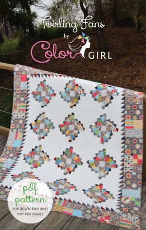 Twirling Fans quilt pattern by Color Girl Quilts, fun modern quilt ... : classic modern quilts - Adamdwight.com