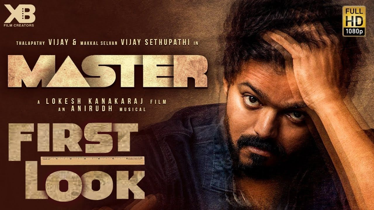 Master Thalapathy Vijay And Malavika Mohanan S First Poster Out In 2020 Thriller Film