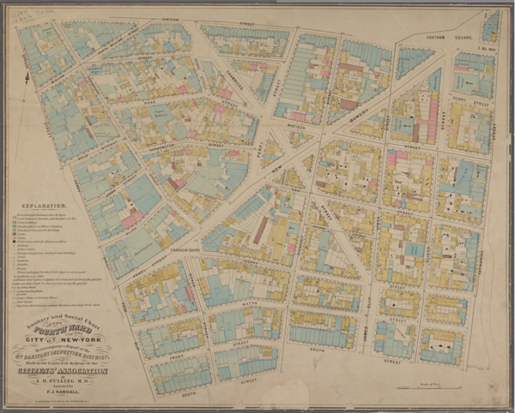 Sanitary and social chart of the Fourth Ward of the City of New York 1864