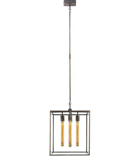 Visual Comfort S5012AI Studio Belden 4 Light 16 inch Aged Iron with Wax Pendant Ceiling Light #LightingNewYork