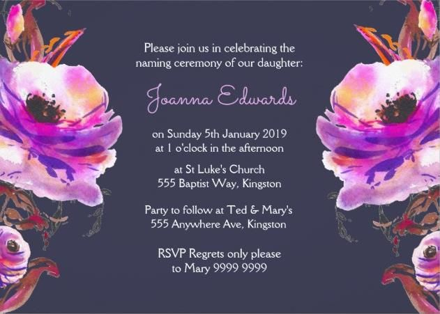 15 Print Ready Naming Ceremony Invitation Template PSDAi – Naming Ceremony Invitation Template