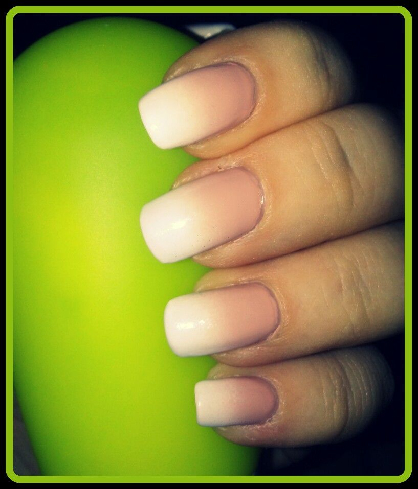 Baby boomer French ombre nails.   Nails, Beauty