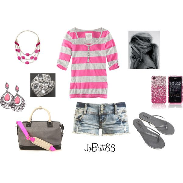 Pink and Grey, created by jobritt83 on Polyvore