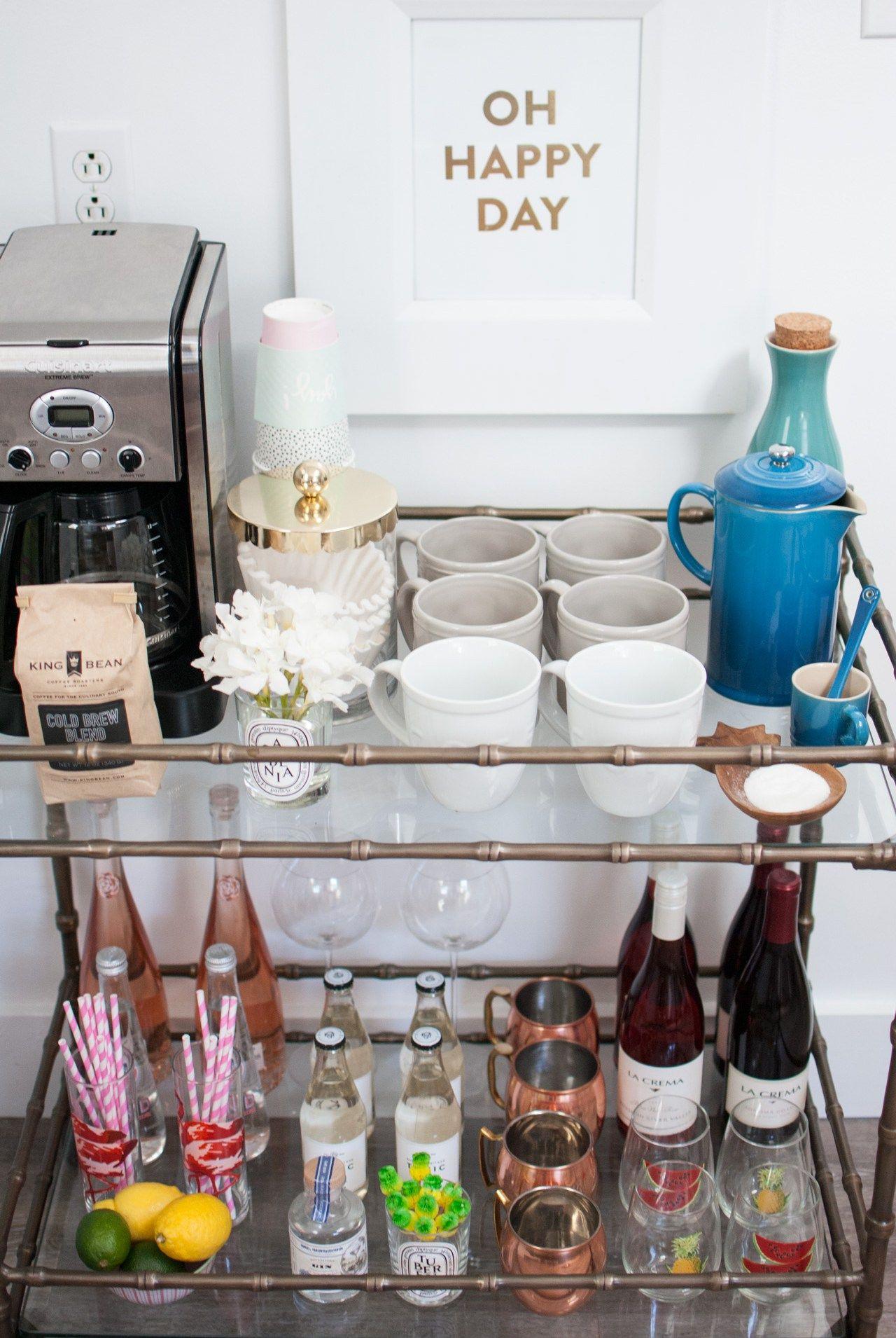 Coffee & Bar Cart | Kaffee, Küche und Schöner