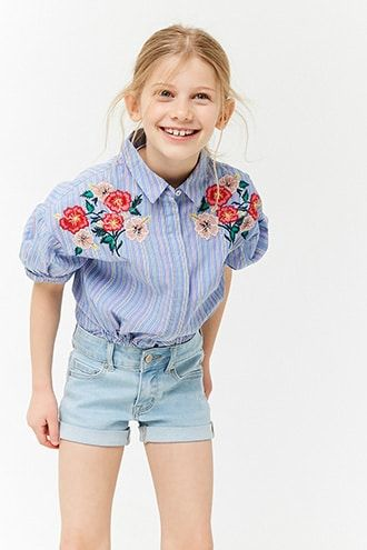 476942a39c7e4 Girls Cuffed Denim Shorts (Kids) | outfits in 2019 | Kids outfits ...