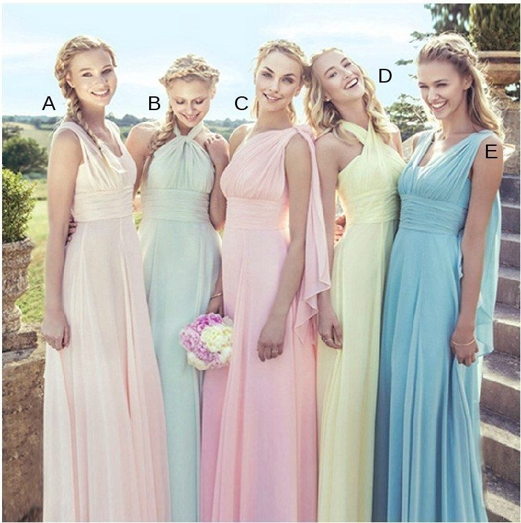 Bridesmaid Dress Infinity Convertible Chiffon Evening Maxi