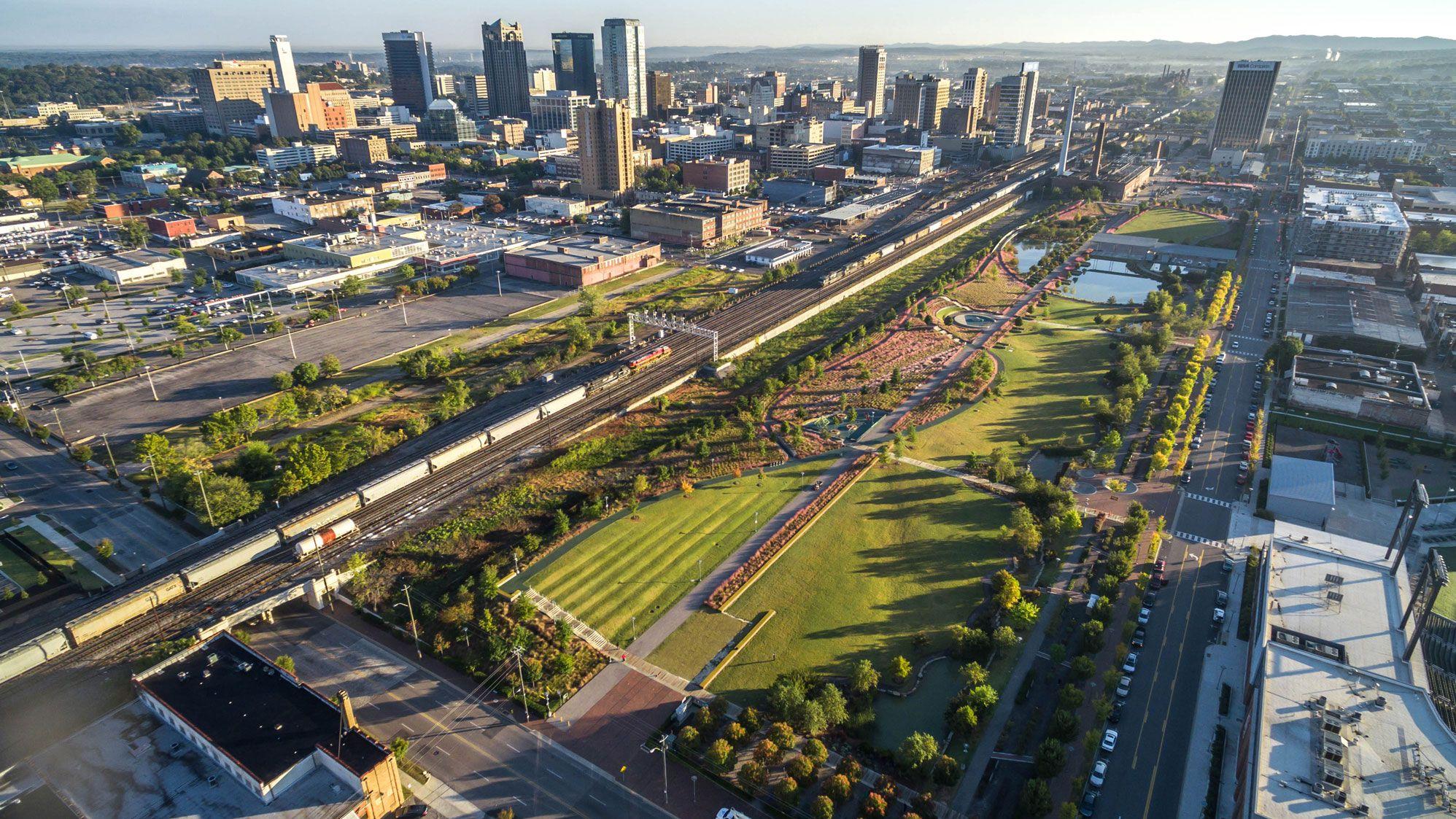 Railroad Park Birmingham Al Landscape Architecture Landscape Architect Urban Park