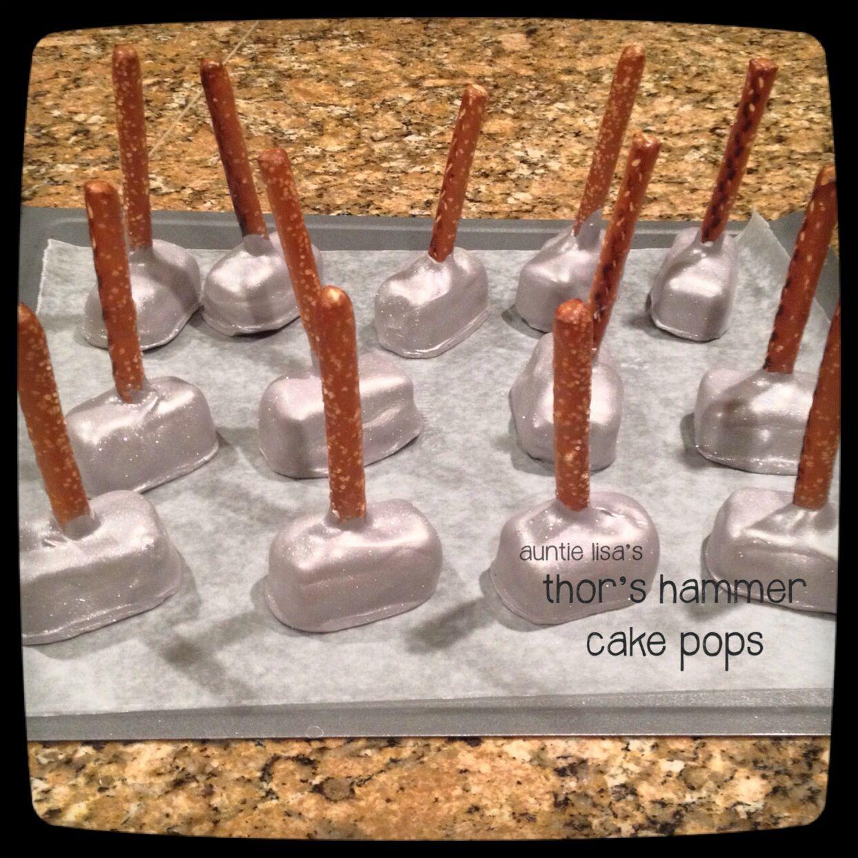 Thors Hammer Cake Pops