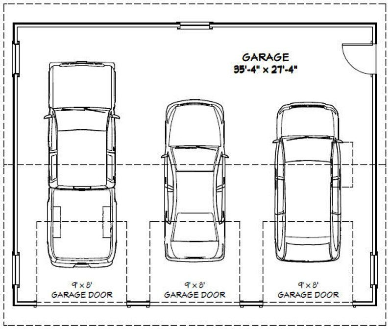 36x28 2Car Garages 1,008 sq ft PDF Floor Plan