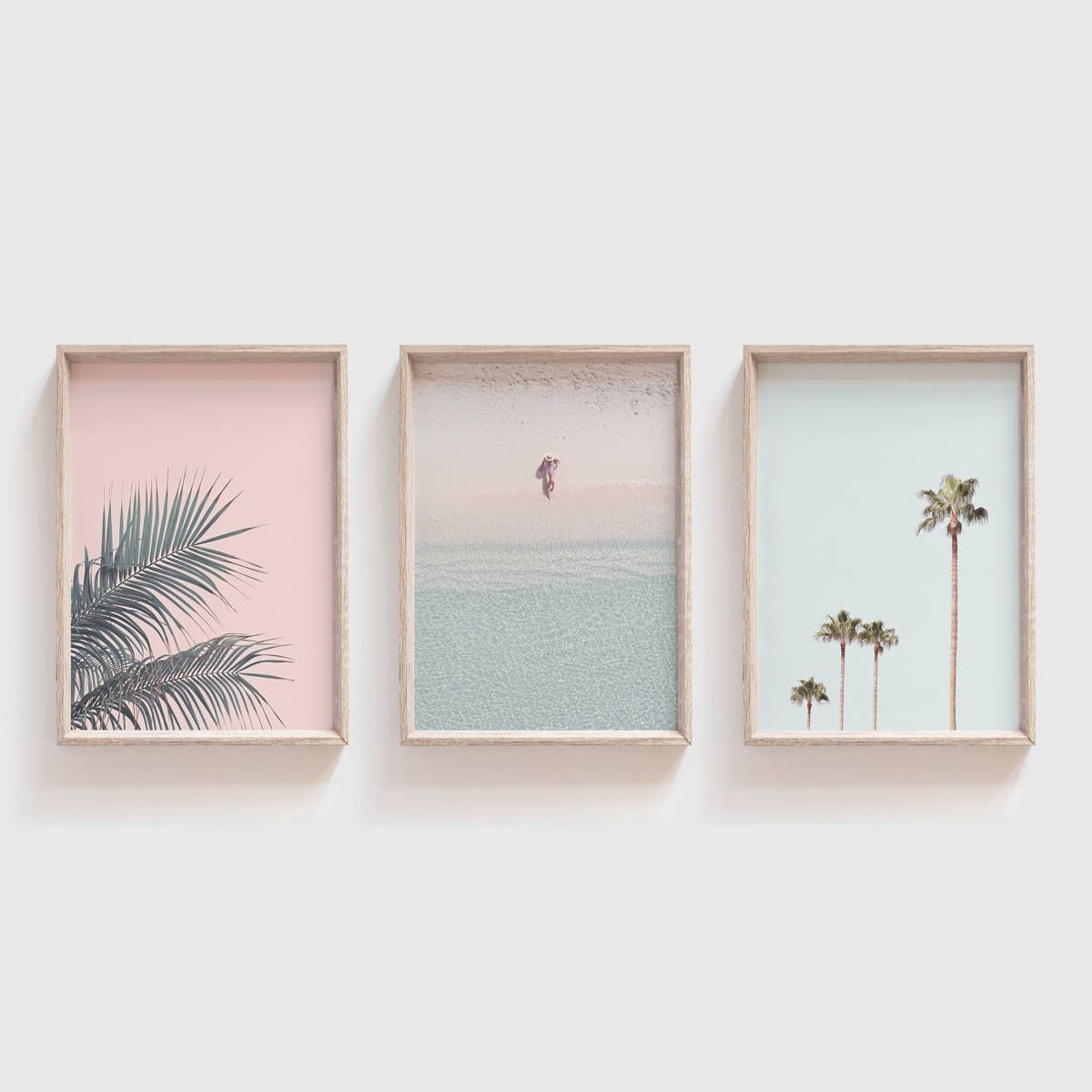 Set Of 3 Printslarge Wall Artpastel Wall Artpastel Etsy Pink Wall Art Pastel Wall Art Beach Wall Art Set