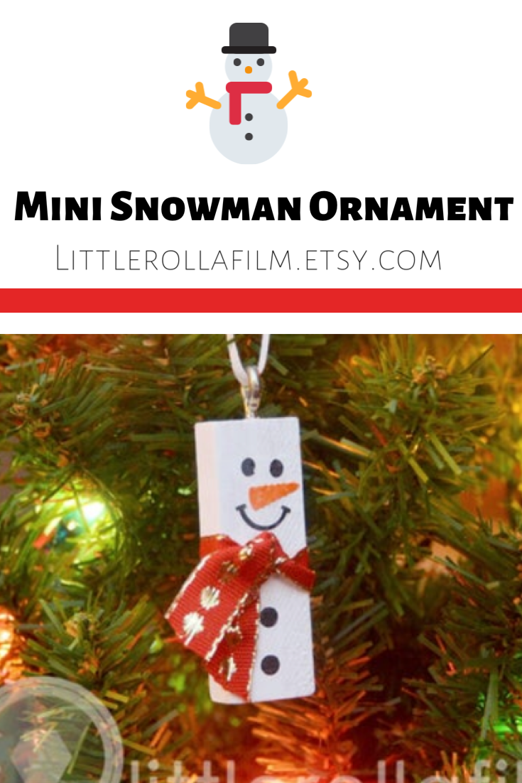 Mini Ornament Snowman Ornament Christmas Ornament Mini Etsy In 2020 Cheap Christmas Crafts Christmas Ornaments Snowman Gifts