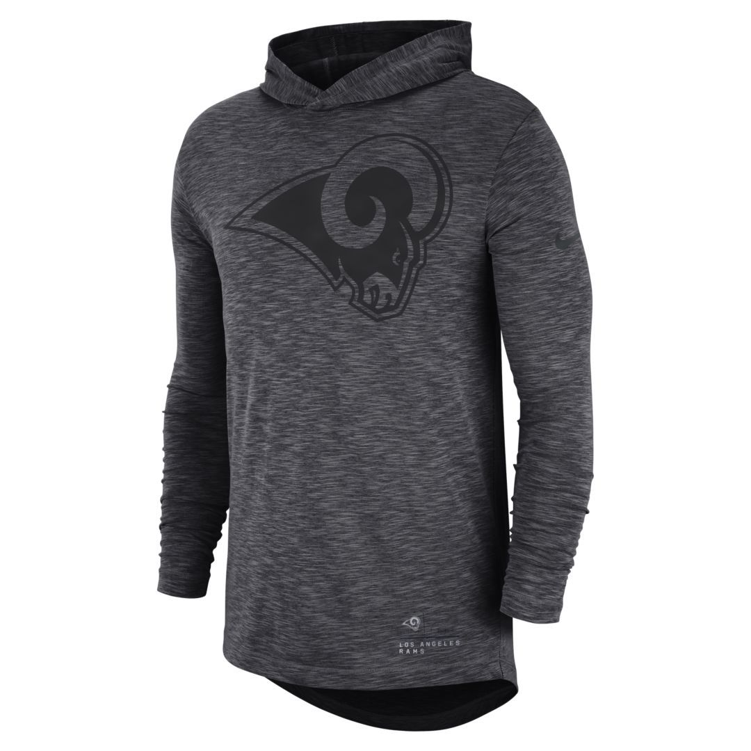 9d0a85515 Nike (NFL Rams) Men s Hooded Long Sleeve Top Size S (Anthracite ...