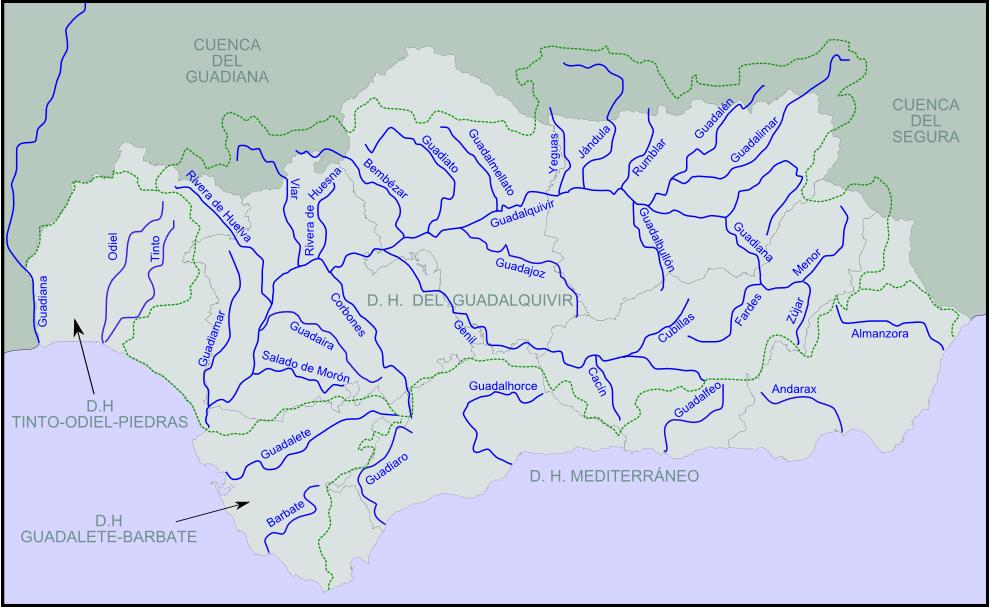 Ríos de Andalucía