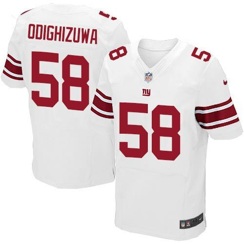 Nike Giants #58 Owa Odighizuwa White Men's Stitched NFL Elite Jersey And Cardinals Carson Palmer jersey