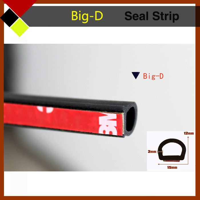 Free Shipping Big D Car Door Edge Engine Tailgate Protector Seal Strip Weatherstrip Noise Proof Waterproof 400 10m Car Wash Weather Stripping Car Exterior