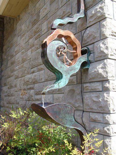 30 Amazing Downspout Ideas Splash Guards Charming Rain Chains And Creative Rain Ropes Garden Art Rain Chain Garden Projects