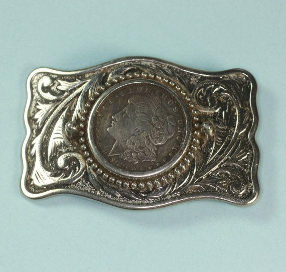 1921 Morgan Silver Dollar Belt Buckle Western Design Via Etsy Belt Buckles Western Belt Buckles Belts For Women