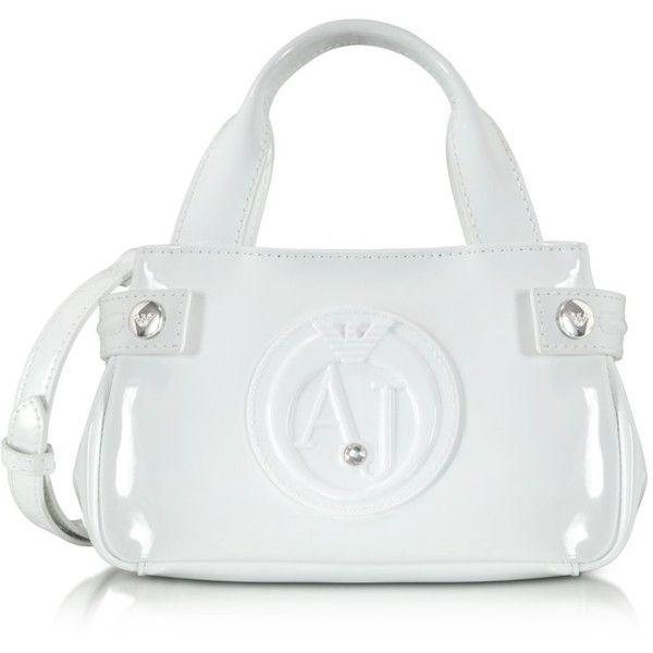 9ab18ba2b158 Armani Jeans Handbags Patent Eco Leather Mini Handbag (396.055 COP) ❤ liked  on Polyvore