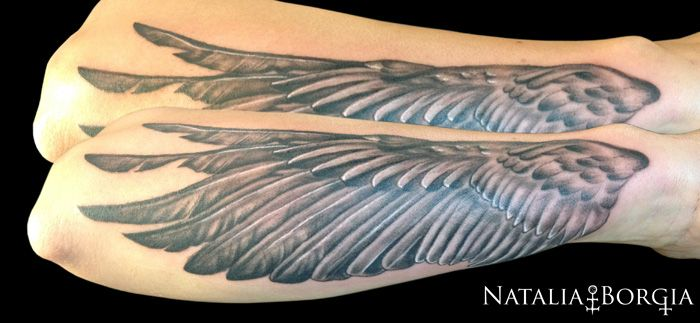 Wing tattoo on forearm my tattoo work pinterest for Wing forearm tattoo