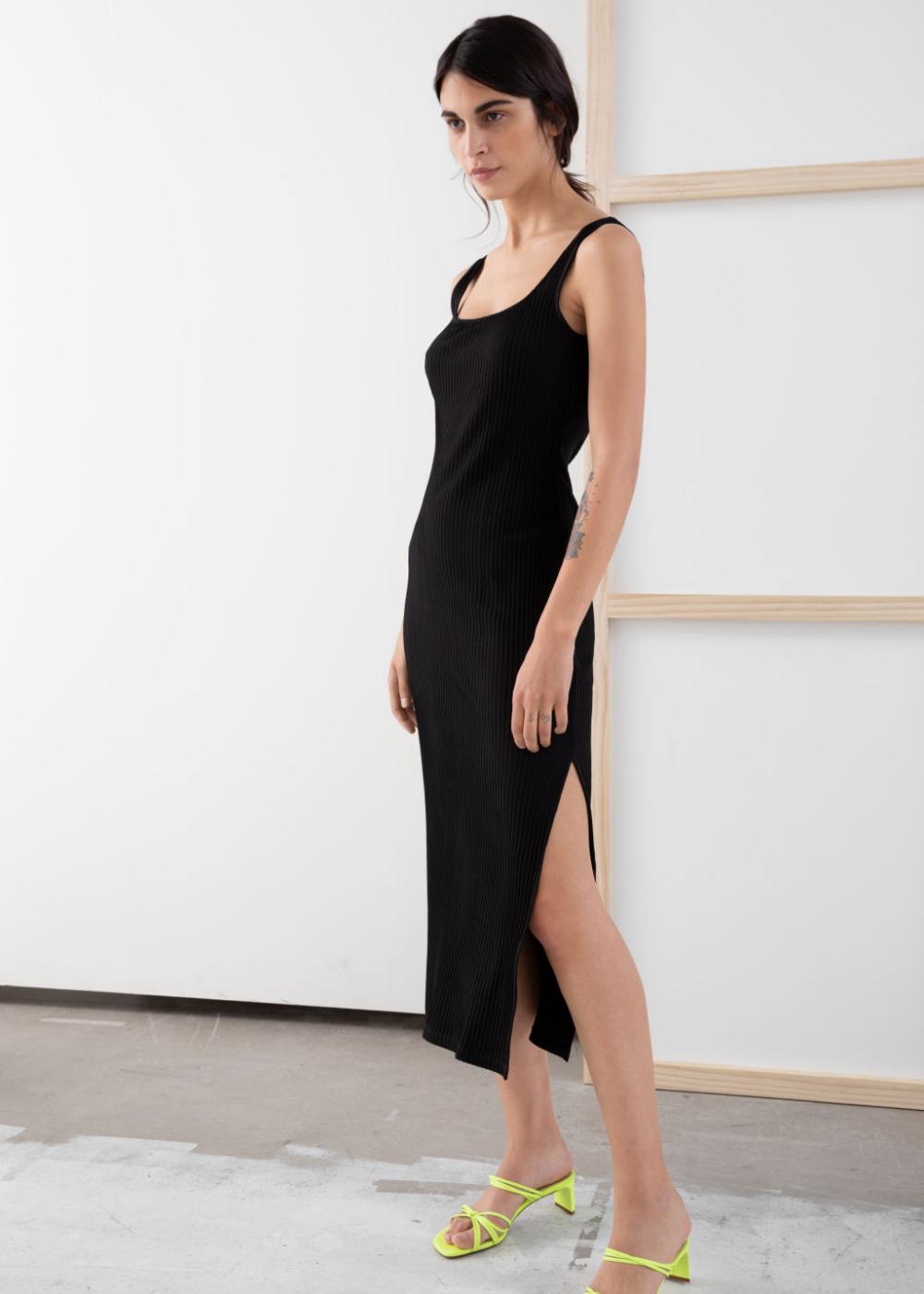 Pdp Fitted Midi Dress Dresses Midi Dress [ 1400 x 1000 Pixel ]