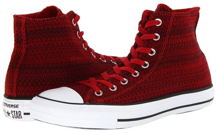 a216f46ee368a1 Converse Chuck Taylor All Star ZigZag Textile Hi (Chili Pepper) - Footwear  on shopstyle.com