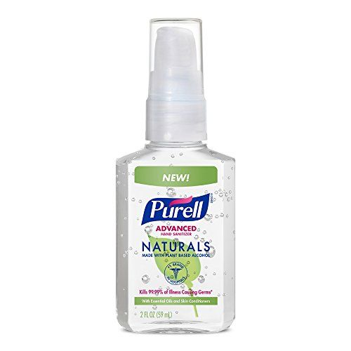 Purell Advanced Hand Sanitizer Naturals 2oz Pump Bottle Pack Of 6
