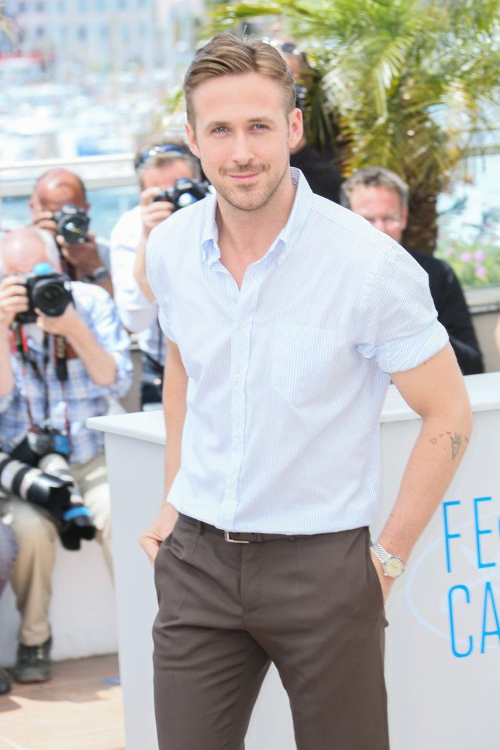 Pin For Later The Most Stunning Snaps From Cannes Ryan Goslings Baby Blues Were Even Brighter In The Cannes Sun