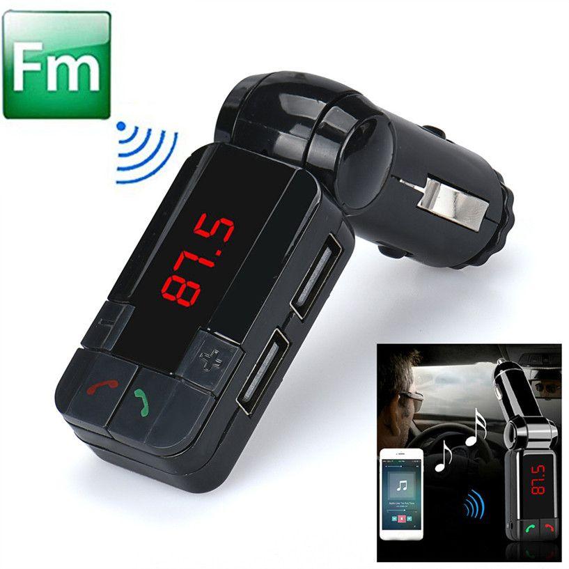 Carprie المزدوجة Usb شاحن سيارة كيت بلوتوث اللاسلكية ستيريو مشغل Mp3 Fm الارسال سيارة Fm Mp3 بلوتوث Car Usb Fm Transmitters Dual Usb