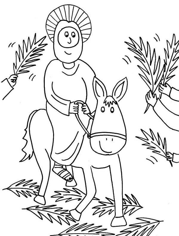 Palm Sunday Coloring Pages | Holiday Coloring Pages | Pinterest ...