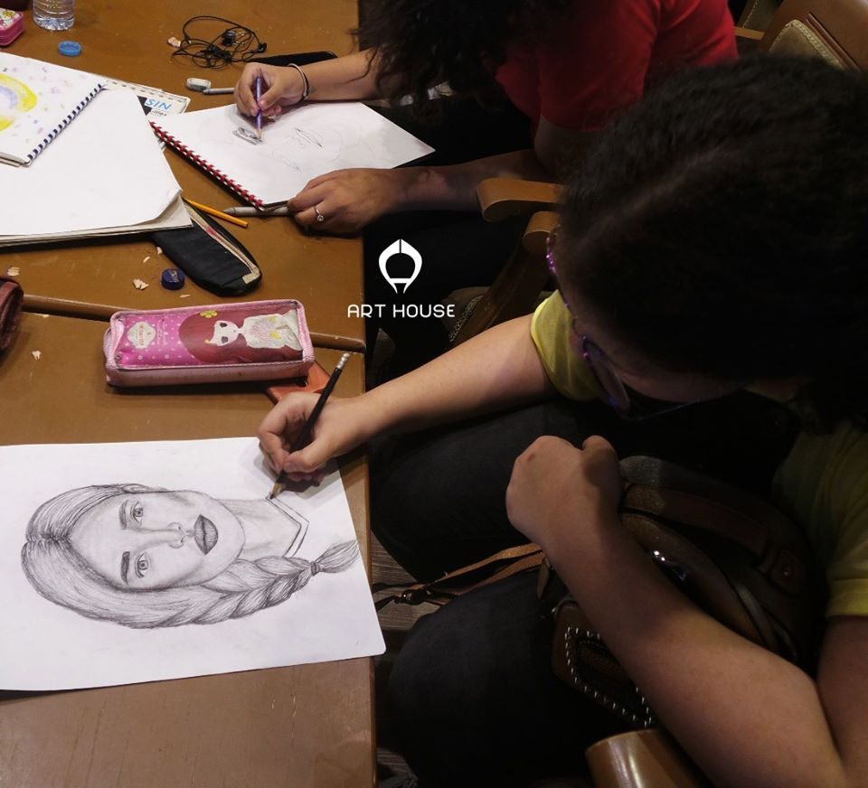 Portraits Drawing Course For Children Age 9 13 Years كورس رسم البورتريه للاطفال من سن ٩ ١٣ سنة Home Art Art