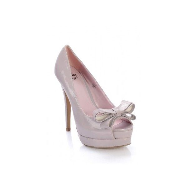 Miss Me Jocelyn-20 Bow Tie Pump (€22) ❤ liked on Polyvore featuring shoes, pumps, scarpe, bow tie pumps and bow tie shoes
